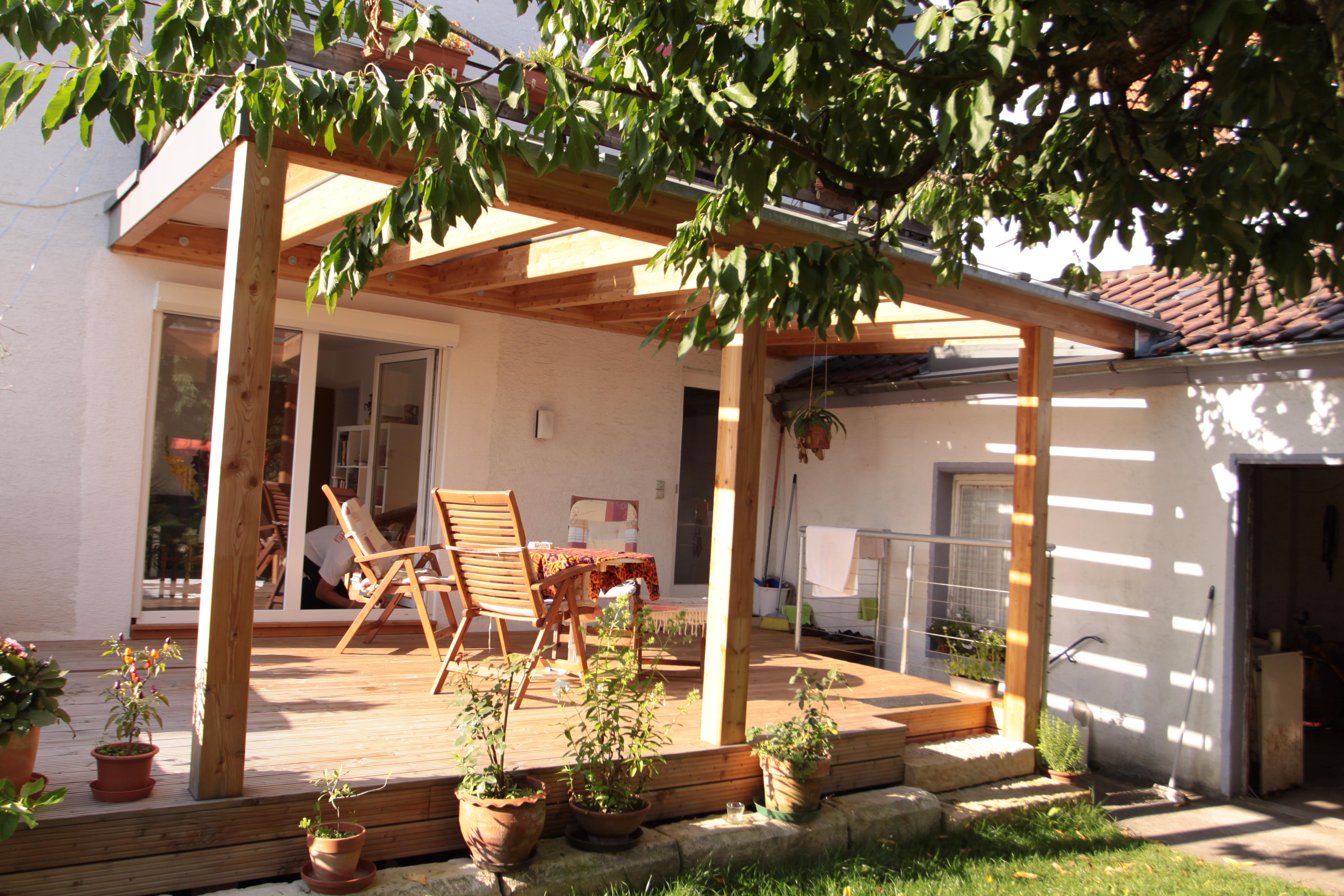 Terrasse mit Glasüberdachung   Ihre Zimmerei   Reutlingen